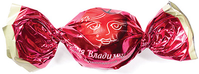 Конфеты Вишня Владимировна в белой шоколадной глазури
